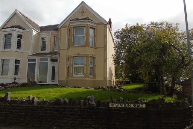 Thumbnail Semi-detached house for sale in Station Road, Glais, Swansea