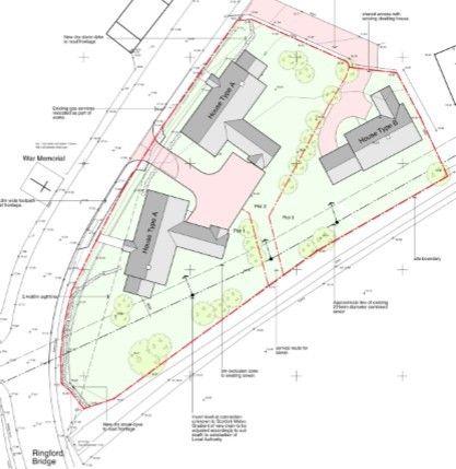 Location Plan of Plots 1 & 3 Ringford Bridge, Ringford, Castle Douglas DG7