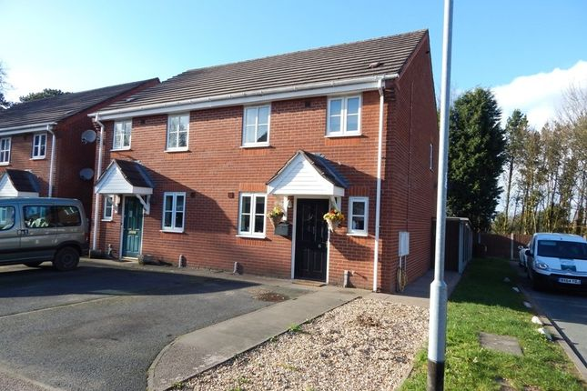 Thumbnail Semi-detached house for sale in Bodington Close, Burntwood