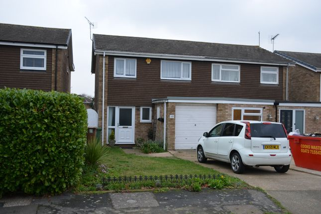 Thumbnail Semi-detached house for sale in Gosford Way, Felixstowe