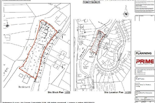 Thumbnail Land for sale in Mynachlog Road, Pontyberem, Llanelli