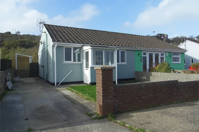 Thumbnail Semi-detached bungalow to rent in Seaview Crescent, Goodwick, Pembrokeshire