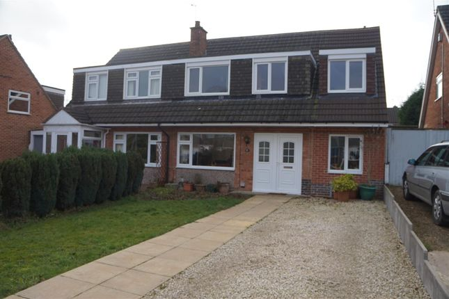 Thumbnail Semi-detached house for sale in Ashfield Drive, Anstey, Leicestershire