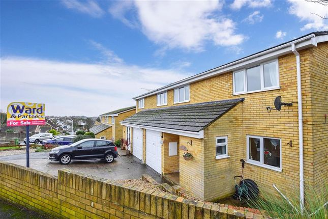 Thumbnail Semi-detached house for sale in Snowdrop Close, Folkestone, Kent