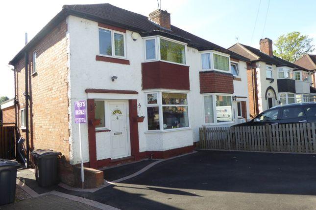 Thumbnail Semi-detached house for sale in Moorpark Road, Northfield, Birmingham