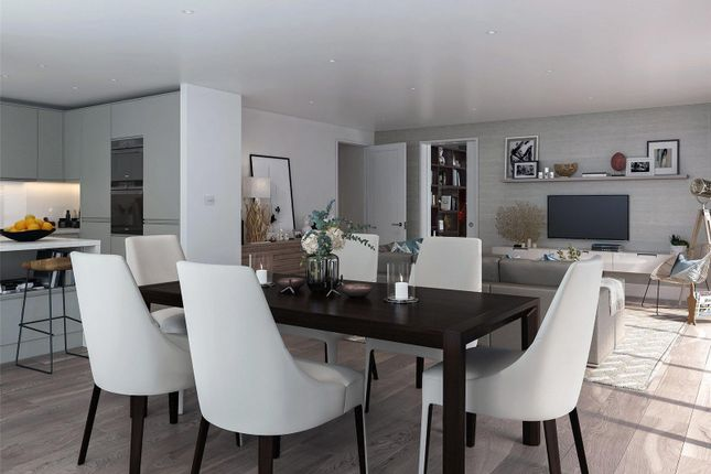 Dining Area- CGI of Bayside Apartments, Brighton Road BN11