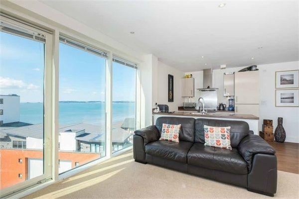 Thumbnail Flat for sale in Meridian Tower, Maritime Quarter, Swansea
