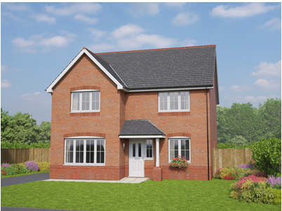 Thumbnail Detached house for sale in The Brecon, Plot 23, Off Old Hall Road, Hawarden, Flintshire