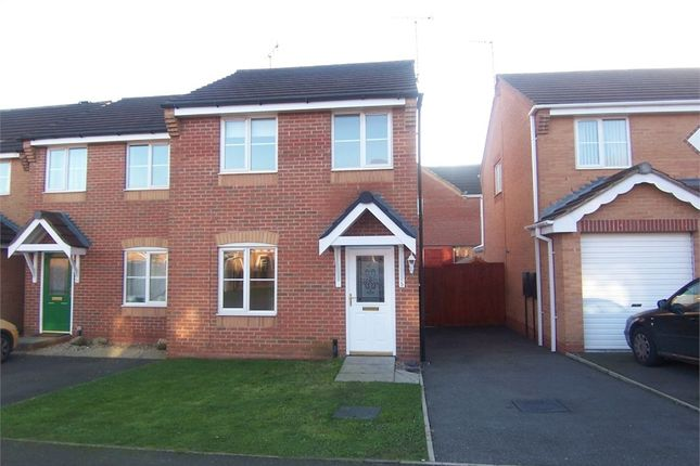 Thumbnail Semi-detached house to rent in Carnation Road, Shirebrook, Mansfield, Derbyshire
