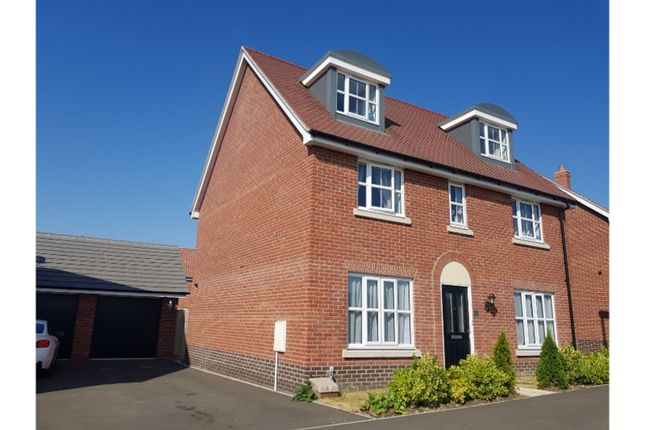 Thumbnail Detached house for sale in Brooke Way, Stowmarket
