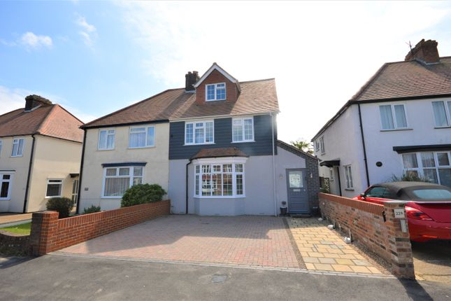 Thumbnail Semi-detached house for sale in Shorncliffe Road, Cheriton, Folkestone