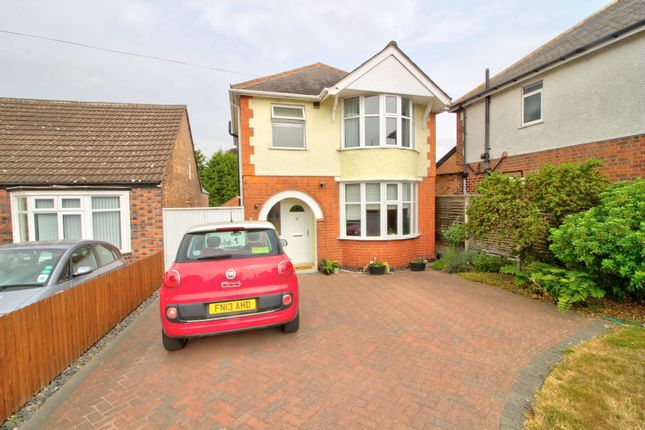 Thumbnail Detached house for sale in Tennis Court Drive, Leicester