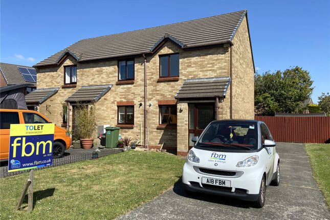 Thumbnail Semi-detached house to rent in Redhill Park, Crowhill, Haverfordwest