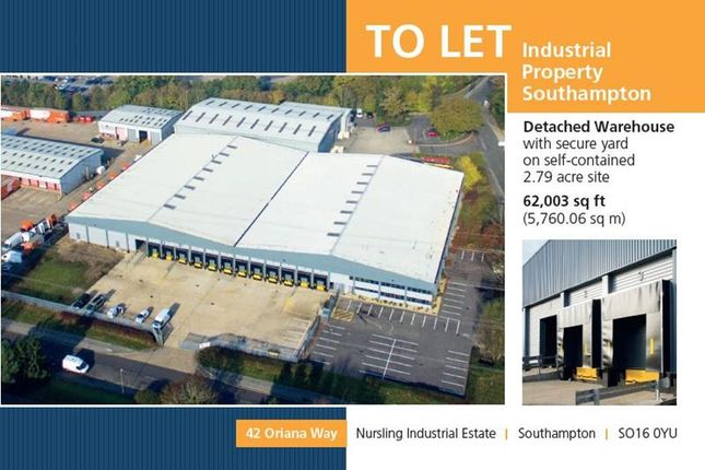 Thumbnail Warehouse to let in 42 Oriana Way, Nursling Estate, Southampton, Hampshire