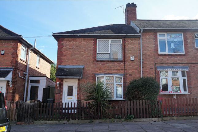 Thumbnail End terrace house for sale in Alma Street, Leicester