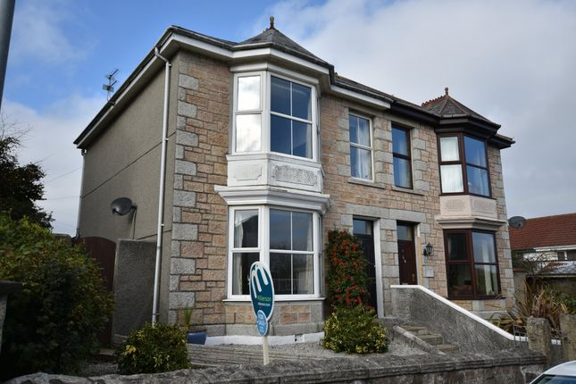 Thumbnail Semi-detached house for sale in Trelawney Road, Camborne