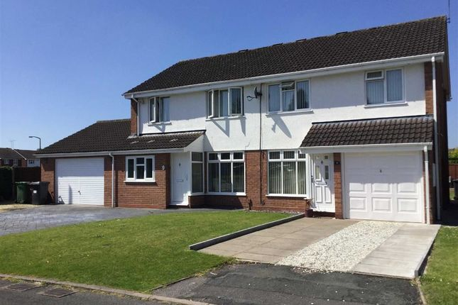 Thumbnail Semi-detached house for sale in Woodford Close, Pendeford, Wolverhampton