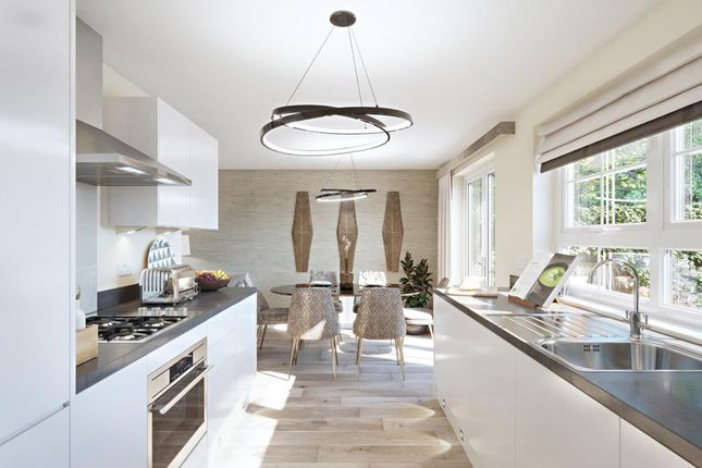 Open-Plan Kitchen Dining Space In The Denby 3 Bed Home