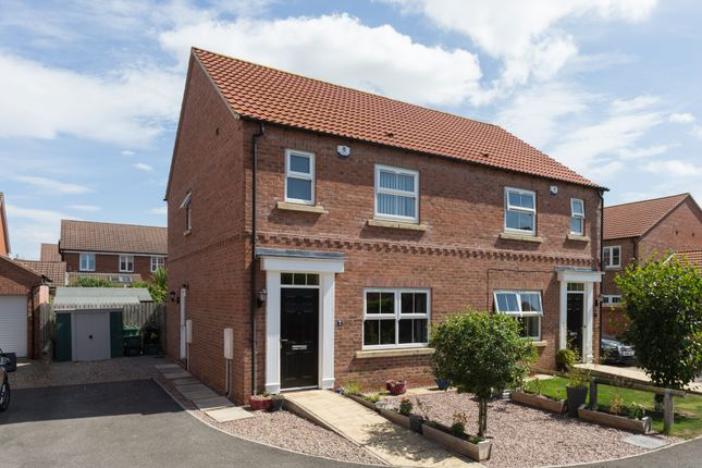 Thumbnail Semi-detached house for sale in The Laurels, Strensall, York