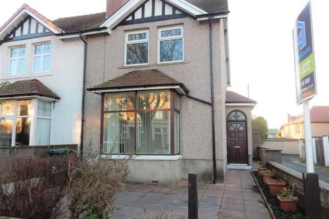 Thumbnail Semi-detached house to rent in Bare Avenue, Morecambe