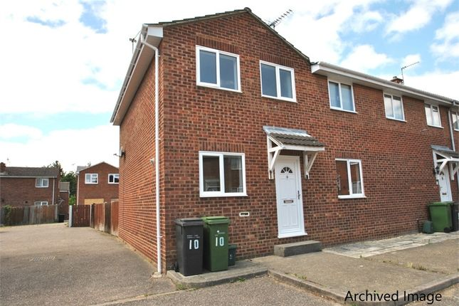 Thumbnail End terrace house to rent in Goldhanger Court, Braintree, Essex