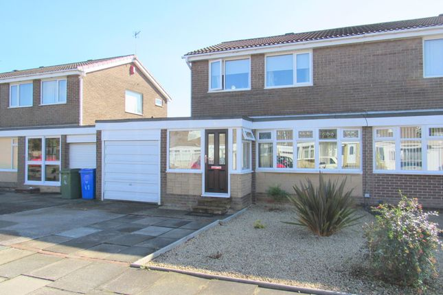 Thumbnail Semi-detached house for sale in Windburgh Drive, Cramlington