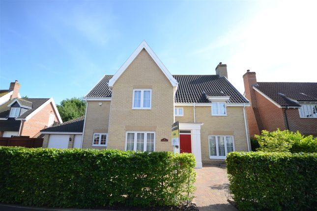 Thumbnail Detached house for sale in Cornfield Road, Mulbarton, Norwich