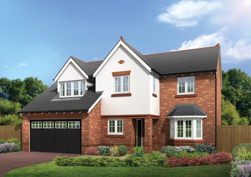 Thumbnail Detached house for sale in The Chesham, The Hawthorns, Common Lane, Lach Dennis, Northwich, Cheshire