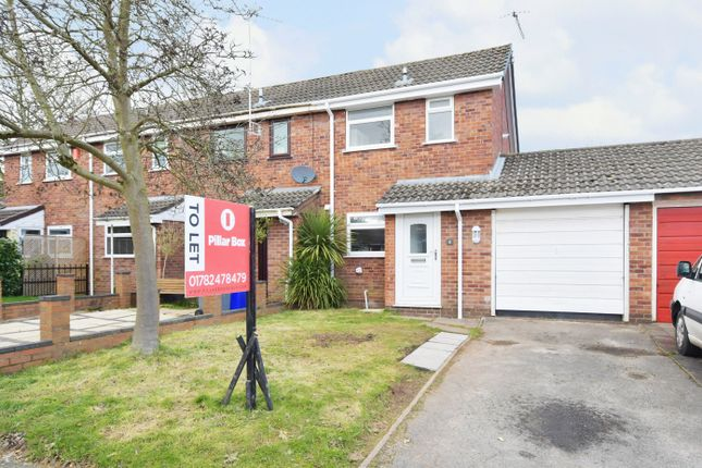 Thumbnail End terrace house to rent in Bevandean Close, Trentham, Stoke On Trent