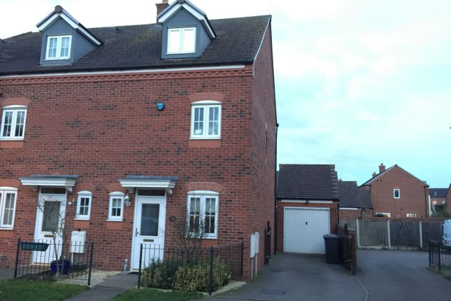 Thumbnail Town house to rent in Broadbent Close, Lichfield