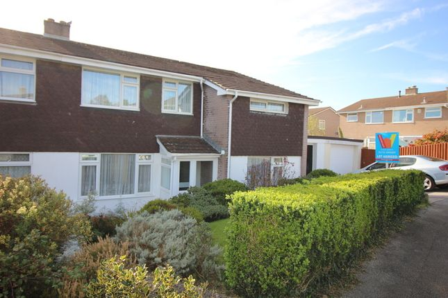 Thumbnail Semi-detached house to rent in Castlemead Drive, Saltash
