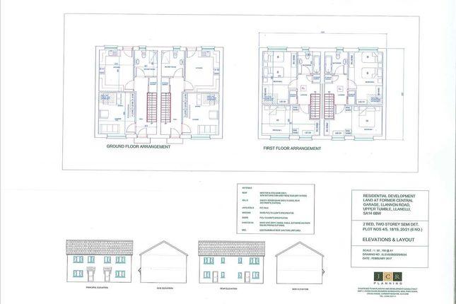 Thumbnail Semi-detached house for sale in Llannon Road, Upper Tumble, Llanelli