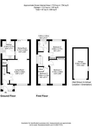 Floorplan of St. Martins Drive, Blackburn, Lancashire BB2