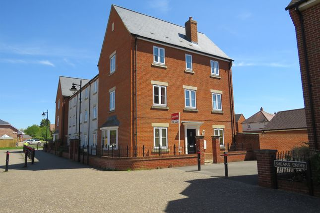 Thumbnail Town house for sale in Shears Drive, Amesbury, Salisbury
