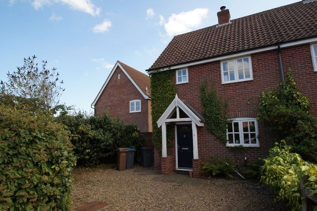 2 bed semi-detached house for sale in Saxonfields, Snape, Saxmundham
