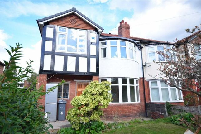 Thumbnail Semi-detached house to rent in Abberton Road, Withington, Manchester, Greater Manchester