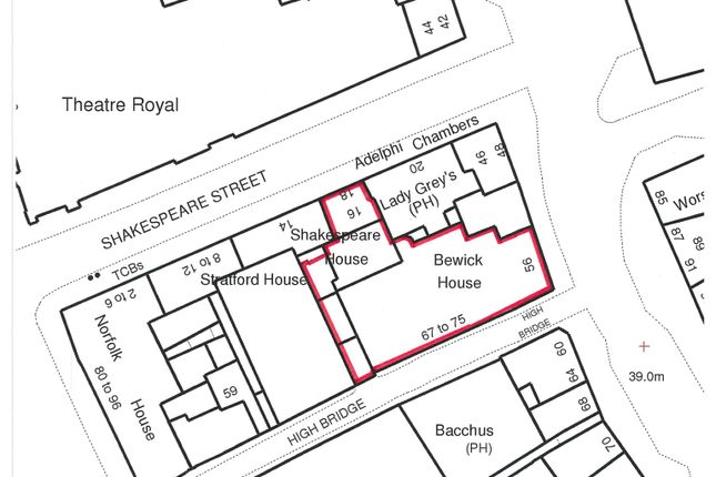 Detail Plan of Suite 3, Third Floor, Shakespeare House, Newcastle Upon Tyne NE1