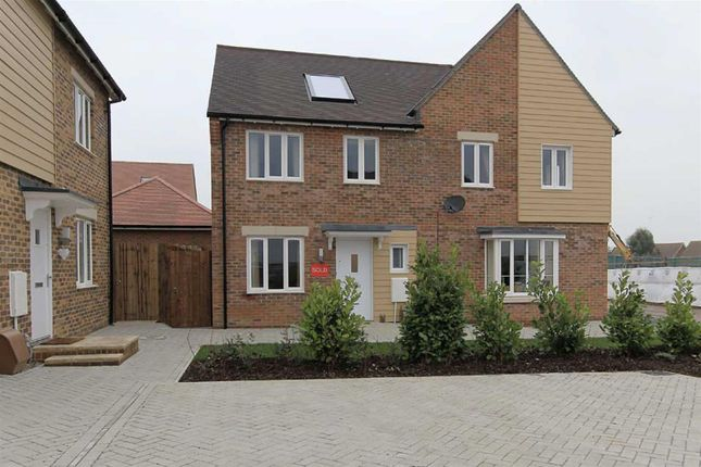 Thumbnail Semi-detached house to rent in Swallow Avenue, Iwade, Sittingbourne