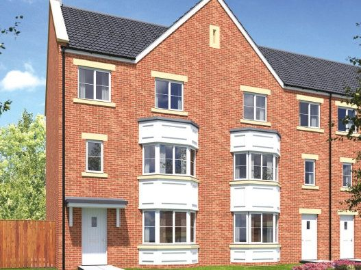 "Thumbnail Town house for sale in ""The Minster"" at Peases Cottages, South Terrace, Darlington"