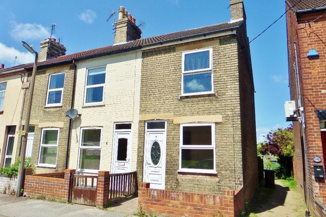 Thumbnail End terrace house to rent in Holly Road, Lowestoft