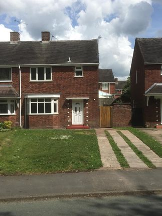 Thumbnail Semi-detached house to rent in Wellington Drive, Cannock