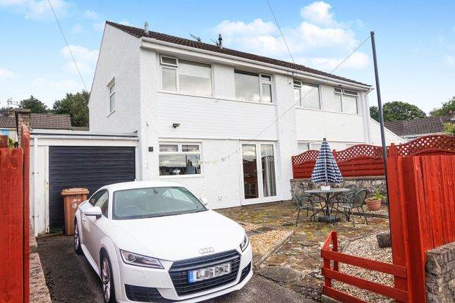 Thumbnail Semi-detached house for sale in St James Close, Maesycwmmer, Hengoed