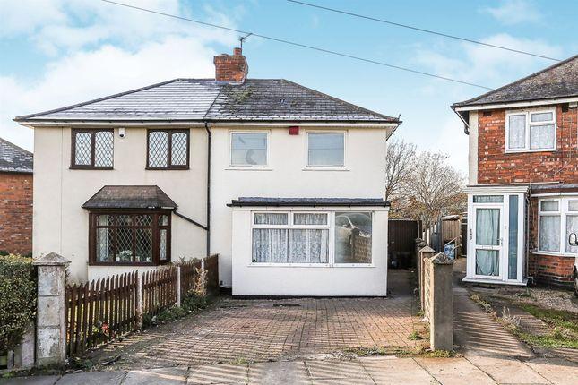 Thumbnail Semi-detached house for sale in Round Road, Erdington, Birmingham