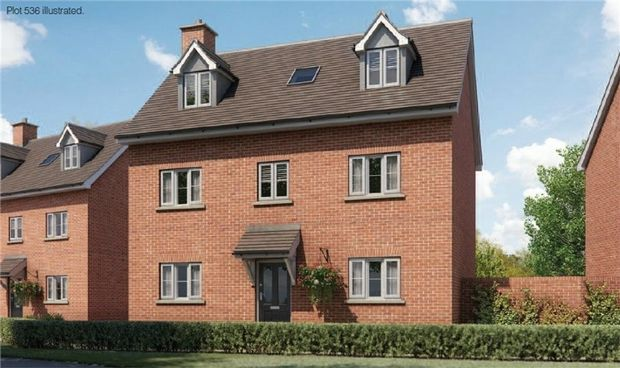Thumbnail Detached house for sale in The Curtiss At Chiswell Place, New Cardington, Bedfordshire
