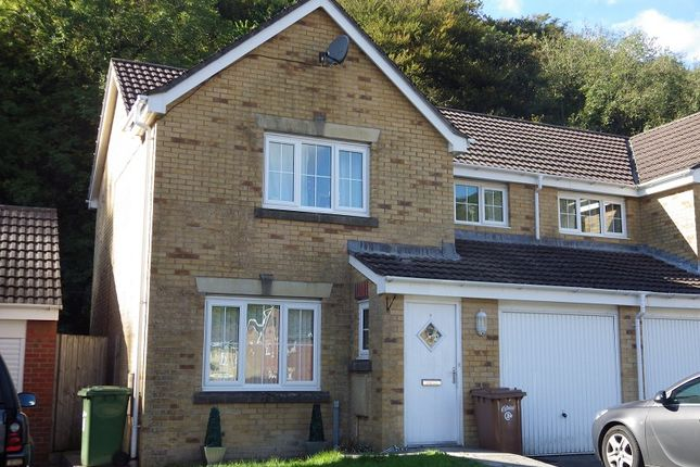 Thumbnail Semi-detached house to rent in Coed Celynen Drive, Abercarn, Newport.