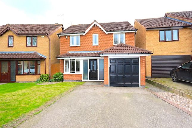 Thumbnail Detached house for sale in Plough Close, Leicester Forest East, Leicester