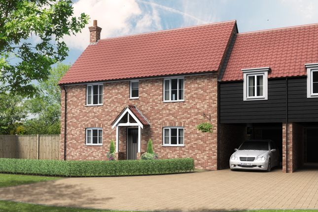 Thumbnail Link-detached house for sale in Beccles Road, Thurlton, Norwich