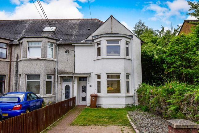 Thumbnail End terrace house for sale in Duffryn Street, Ystrad Mynach, Hengoed