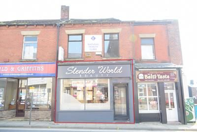 Retail premises to let in High Street, Lees, Oldham, Lancashire