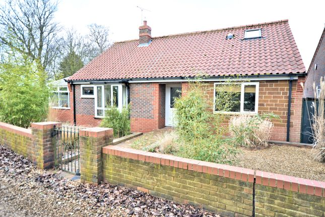 Thumbnail Detached bungalow for sale in Hall Close, Heacham, King's Lynn